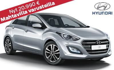 Hyundai i30 Comfort talvirenkailla ja metallivärillä nyt 20.990 €! Etusi 4000 €!