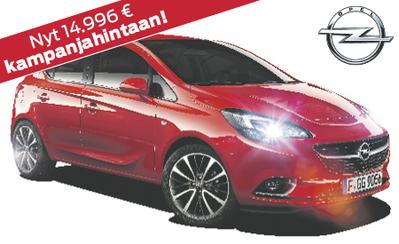 Uusi Opel Corsa Active nyt kampanjahintaan 14.996 € tai 179 €/kk! Korko 1,9%!