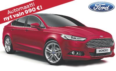 Uusi Ford Mondeo Trend 5 vuoden takuulla 28.243 € tai ilman käsirahaa 335 €/kk!
