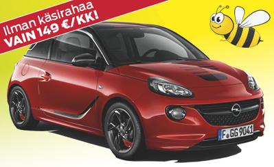 Kesämarkkinoilta Opel Adam Jam nyt 14.997 € tai ilman käsirahaa 149 €/kk! Korko 0,99%!