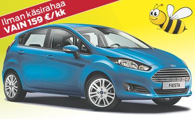Uusi Ford Fiesta kattavilla varusteilla nyt 15.990 € tai ilman käsirahaa 159 €/kk!