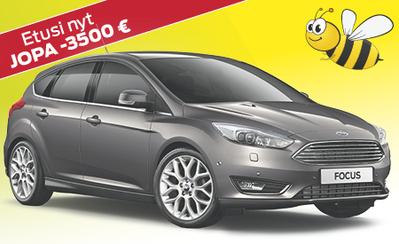 Nyt uuteen Ford Focus -malliin automaatti kaupan päälle! Etusi jopa -3500 €!
