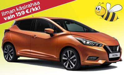 Täysin uusi Nissan Micra kattavilla varusteilla 15.591 € tai 159 €/kk! Korko 0,99%!