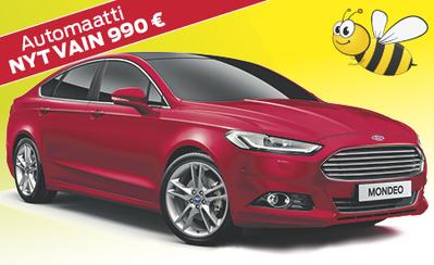 Ford Mondeo 28.243 € tai ilman käsirahaa 329 €/kk! Automaatilla vain +990 €!