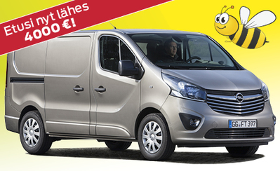 Kesämarkkinoilta Opel Vivaro lähes 4000€ eduin! Nyt 34.225 € tai 399 €/kk!