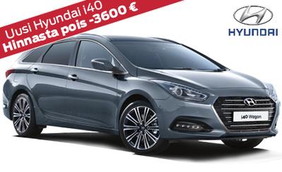 Hyundai i40 Wagon Classic nyt 23.990 € tai ilman käsirahaa 239 €/kk! Hinnasta pois jopa -3600 €!