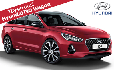 Täysin uusi Hyundai i30 Wagon alk. 21.390 € tai ilman käsirahaa 249 €/kk! Korko vain 0,99 %!