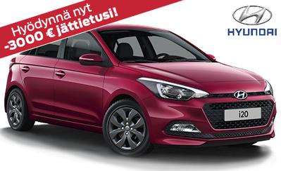 Viikonloppunäyttelyssä uusi Hyundai i20 Comfort Limited 3000 € jättieduin! Huippuvarusteltu malli jopa vain 13.490 € tai ilman käsirahaa 149 €/kk!