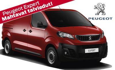 Nyt Peugeot Expert -mallistoon: Takuu 5 vuotta ilman kilometrirajaa! Talvirenkaat ja vanerointi 490 €! Korko 1,9 % ja 3 kk lyhennysvapaata!