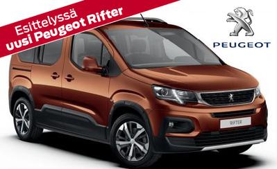 Esittelyssä uusi Peugeot Rifter, aktiiviseen elämäntapaan sopiva muunneltava tila-auto. Hinnat alk. 24.160 €!