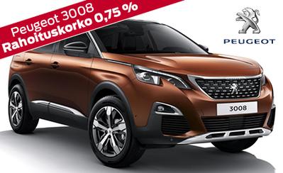 Erikoiserä Peugeot 3008 -malleja vain 30.695 € tai ilman käsirahaa 359 €/kk! Comfort pack 99 €! Etusi jopa 2000 €!