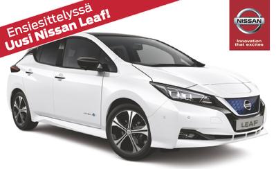 Esittelyssä täysin uusi Nissan Leaf – täyssähköauto! Tervetuloa tutustumaan!