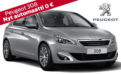 Uusi Peugeot 308 jättieduin, hinnasta pois yli 2000 €! Nyt vain 21.990 € tai 249 €/kk! Korko 0,99 %!