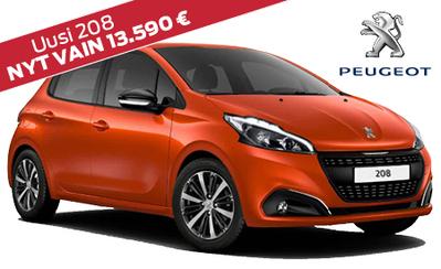 Nyt uusi Peugeot 208 vain 13.990 € tai ilman käsirahaan 159 €/kk! Korko 0,99 %!
