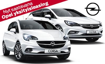 Huoletonta autoilua uuden Opel Yksityisleasingin avulla!