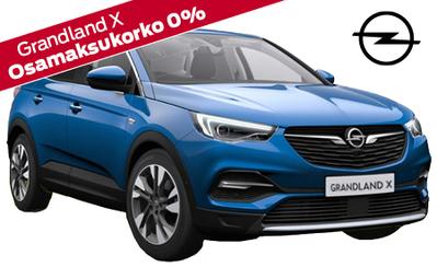 Opel Grandland X Innovation Plus 130hv Automaatti nyt 33.990 € tai 369 €/kk! Korko 0%! Talvirenkaat kaupan päälle!