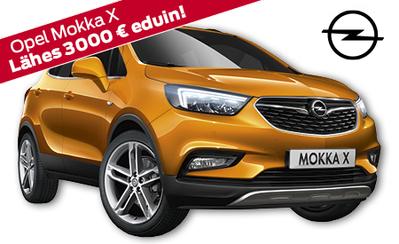 Uusi Opel Mokka X Enjoy 24.757 € tai 279 €/kk! Hyödynnä nyt mahtavat lokakuun triplaetusi!