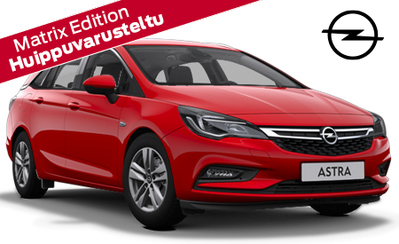 Uusi Opel Astra Sports Tourer Matrix Edition – erikoisvarusteltu 200hv automaatti! Huippuvarusteita veloituksetta, etusi 3600 €!!