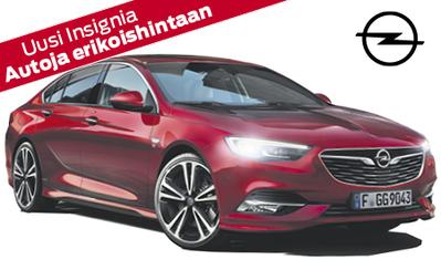 Erä autoja erikoishintaan! Opel Insignia Innovation 200hv automaatti nyt 34.998 €! Etusi jopa 2321 € ja osamaksukorko 2,9 %!