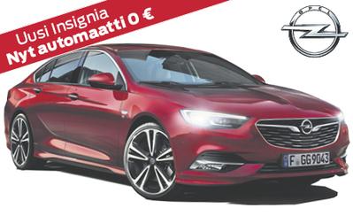Opel Insignia jopa 3154 € jättieduin! Nyt automaattivaihteisto kaupan päälle! Esim. Insignia Grand Sport Enjoy Automaatti nyt 29.349 €!