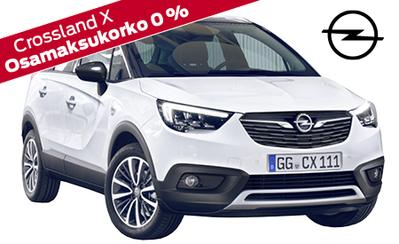 Opel Crossland X Comfort Automatic Edition 21.990 € tai 249 ilman käsirahaa! Talvirenkaat 499 €, korko 0 %, takuu 3 vuotta!