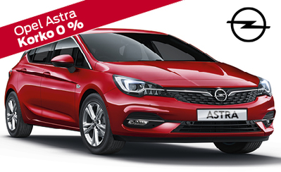 Heti varastosta erä uusia Opel Astroja huippueduin! Hintadut jopa tuhansia! Korko 0 %, 3 kk lyhennysvapaata ja 10.000 € arvosta S-Bonusta!
