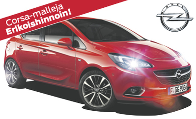 Rajoitettu erä erikoishinnoiteltuja uusia Opel Corsa -malleja nyt nopeaan toimitukseen! Etusi useita tuhansia! Korko 0,99 %!