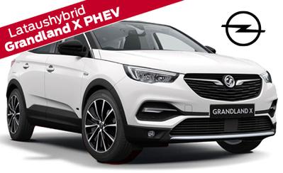 Täysin uusi Opel Grandland X PHEV lataushybridi. Rahoituskorko 0 % sekä 3 kk lyhennysvapaata!