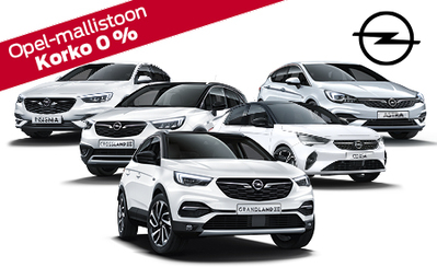 Koko Opel-mallistoon huhtikuussa osamaksukorko 0 % sekä ensimmäiset 3 kk lyhennysvapaata!
