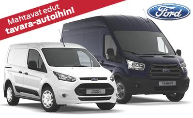 Mahtavat talviedut kaikkiin Ford-tavara-autoihin! Nyt kaupan päälle talvirengaspaketti sekä 500 €:lla varusteita! Korko 0,99 %!