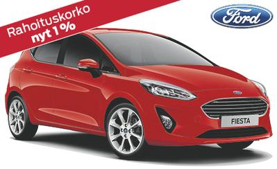Uusi Ford Fiesta heti toimitukseen! Esim. Fiesta Titanium 17.859 € tai ilman käsirahaa 209 €/kk! Talvirengaspaketti 199 €!