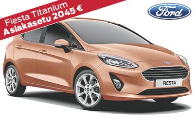 Ford Fiesta Titanium automaatti kattavilla varusteilla nyt 19.390 € tai 199 €/kk! Asiakasetusi jopa 2045 €! Korko 1 %!