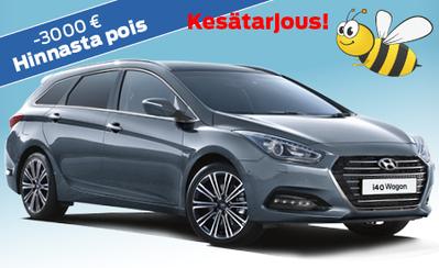 Hyundai i40 Wagon Classic nyt 24.557 € tai ilman käsirahaa 279 €/kk! Hinnasta pois jopa -3000 €! Korko 0,99 %!