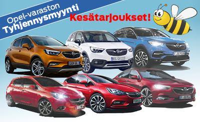 Opel Mallivuoden 2018 varaston tyhjennysmyynti! Jättierä uusia autoja useiden tuhansien eduin! Korko 0,99 %!