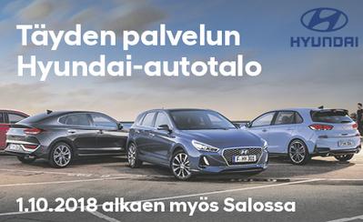 Täyden palvelun Hyundai-autotalo PP-auto Oy aloittaa 1.10.2018 Salossa!