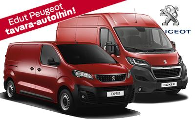 Mahtavat edut Peugeot tavara-autoihin! Rahoituskorko 0,95 %, maksuaikaa 72 kk, 6 kk lyhennysvapaa, takuu 5 vuotta ilman km-rajaa!