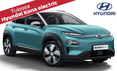 Tulossa uusi Hyundai Kona electric – täyssähköinen kompakti-SUV, vakuuttavalla toimintamatkalla! Takuu 7 vuotta koko Hyundai-mallistoon!