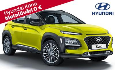 Uusi Hyundai Kona – Sinun autosi, sinun tyylisi. Hinnat alk. 22.590 €. Takuu koko Hyundai-mallistoon 7 vuotta! Tervetuloa tutustumaan!