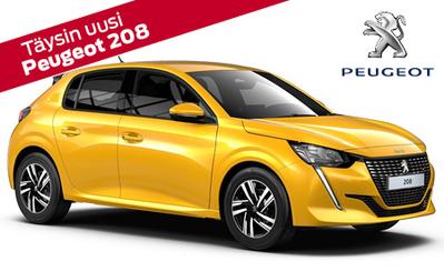 Vuoden auto Suomessa! Täysin uusi Peugeot 208 alk. 16.964 €. Kaikkiin Peugeot henkilöautoihin korko 0,95 % ja 6 kk lyhennysvapaa!