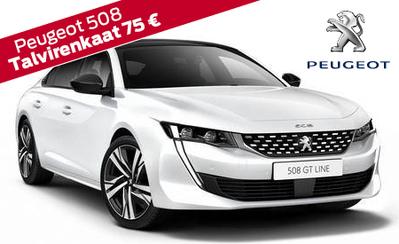 Peugeot 508 -mallit nyt huippueduin! Korko 0,99 %, talvirenkaat 399 €, takuu 5 vuotta! Mallisto alk. 31 204 € tai esim. 349 €/kk!