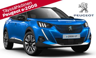 Ennakkotilattavissa täysin uusi täyssähköinen Peugeot e-2008 SUV! Hinnat alkaen 36.973 €!