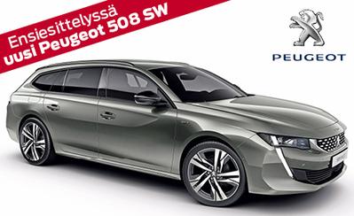 Ensiesittelyssä vuoden tyylikkäin farmariuutuus Peugeot 508 SW! Hinnat alk. 32.807 €. Tervetuloa tutustumaan!
