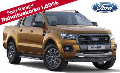 Uusi Ford Ranger 4WD! Tehokkaampi ja varustellumpi kuin aiemmin. Mallisto alk. 34.299 €, 5 vuoden takuulla! Korko 1,9 %!