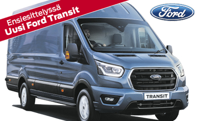 Esittelyssä uusi Ford Transit – kuljetusten jättiläinen! Mallisto alk. 38.128 €, 5 vuoden takuulla! Korko 1,9 %! Tervetuloa tutustumaan!