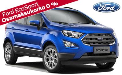 Uusi Ford EcoSport Titanium ilman käsirahaa esim. 279 €/kk! Talvipaketti edullisesti vain 499 €, korko 1,9 % ja takuu 5 vuotta!