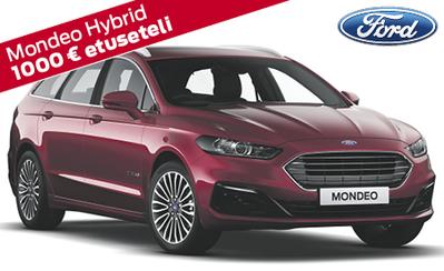 Kaikki Ford Mondeo -mallit 1,49 % rahoituskorolla ja 1000 € etuseteli veloituksetta! Esim. Mondeo Hybrid Wagon 39.197 €.