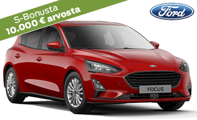 Koko laajaan Ford Focus -mallistoon korko 0,95 %, 10.000 € arvosta Bonusta ja takuu 5 vuotta! Focus-mallisto alk. 22.460 €.