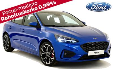 Täysin uusi Ford Focus, vuoden auto 2019! Nyt koko laajaan mallistoon osamaksukorko 0,99 % ja takuu 5 vuotta!
