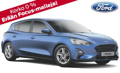 Kaikki Ford Focus -mallit nyt 0 % rahoituskorolla. Mallisto alk. 22.460 €! Autoja nopeaan toimitukseen!
