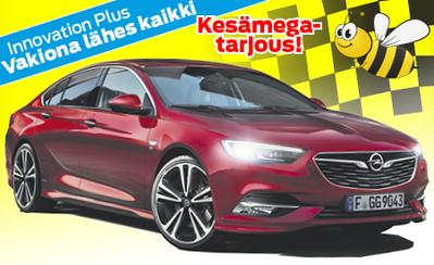 Kesämarkkinoilta Opel Insignia Plus -uutuusmalli! Nyt 200hv Automaatti täydellisillä varusteilla vain 34.998 €! Korko 1,89 %!
